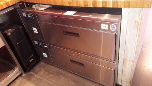 Adande stainless steel twin drawer under counter Refrigerator