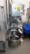 Buffalo GJ461-04 heavy duty Mixer, serial number 16100230001 with stainless steel bowl stand
