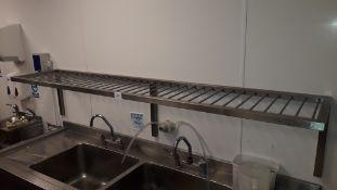 Stainless steel wall mount draining shelf, 2000mm