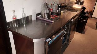 Stainless steel Counter Section, 3000mm fitted hand wash sink