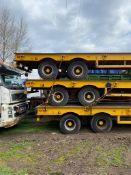 Heavy Duty Tandem Axle Semi Trailer 30T Capacity