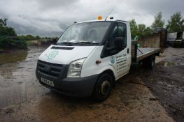 Ford Transit 350EF TDCi, LWB, recovery body (4.3m x 2.2m) with ramps, diesel, 2402cc, white,