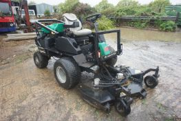 Ransomes HR300 Rotary Ride-On Mower, diesel engine, 60 in. cutting deck, ROPS bar, hazard led kit,
