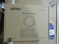 22 x Decorative Round LED Panel 10W 3000K White OEM Trade Price £295