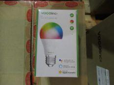 40 x TruSmart LED VOCOLinc L1 6 watt Bulb E27 Base Multi-Colour RGB IP67. Can be controlled