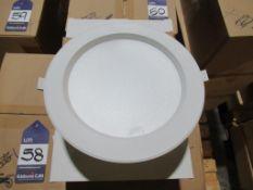 18 x LED 20W 10 inch dia Downlight 4000K White Trim OEM Trade Price £270