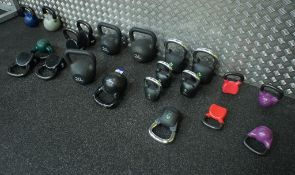 Qty of various kettlebell weights