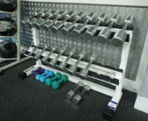 Steel Fabricated Free Weights Rack with various We