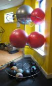 Steel Fabricated Exercise Ball Rack with contents