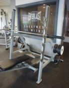 Technogym Weight / Squat Station, bar with various