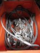 Box of Wire Rope Slings and Chains