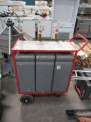 Mobile 3 Compartment Serving Unit