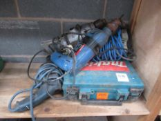 Quantity of various 240V hand tools all untested (spares/repairs)
