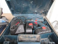 Bosch GSR18-2 Cordless Drill with 2 Batteries and Charger in case with an Unbranded SD Drill In Case