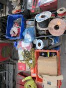 Pallet to contain Various Electrical Equipment, Cables, Extension Leads etc