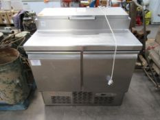Infrico Double Door Refrigerated Cupboard with 5 Pan Server top Compartment