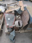 Various Vintage Lamps and Fire Screen