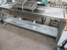 Voque Stainless Steel Double Sink, Double Drainer with under Shelf