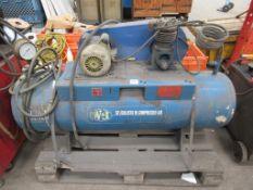 Wanos lubricated air compressor