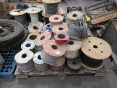 Pallet of various electrical cabling and wires