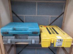 Makita and Atlas Copco cordless drills and Bosch battery and charger
