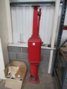 Vintage Cast Iron Hand Operated Fuel Pump