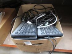 2 x Boxes of PC Equipment Inc. Keyboards, Mouses, Cables
