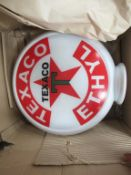 Texaco Ethyl Glass Fuel Pump advertising Globe (possibly reproduction)