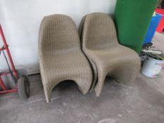 5 x wicker chairs