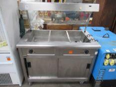 Lincat Mobile Stainless Steel Heated Cupboard/ Servery