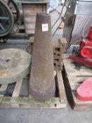 "Blacksmiths Mandrel Cone, Together with a 19"" Blacksmiths Swage Block"
