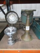3 Various Vintage Lamps and Horn