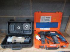Halfords 240v Grinder and SFS 110v Drill