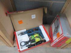 Bosch 3161.1 Impact drill (110V) and Taskmaster heavy duty cordless drill kit - untested