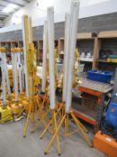 6 x 110V 5ft Plasterer Lighting units, model 10946
