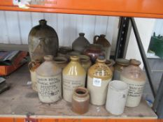 Large Selection of Earthenware/ Stoneware Jugs/ Bottles, Containers etc