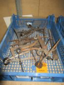 Box to contain qty of various hand and measuring equipment