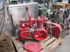 Vintage Sellark M/C N°D0721265 Air Compressor