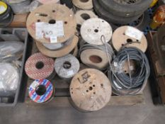 Contents of pallets to contain 9 reels of Various Cabling