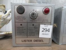 11 x Lister Diesel Control Boxes