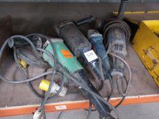 3 x 110V & 1 x 240V grinders, including Bosch, Hitachi and Toshiba