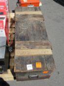 Carpenters Box and Content Including Carpenters Tool