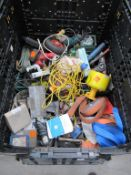 Stillage to contain various slings, ratchet straps, power tools etc
