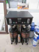 Bunn Dual TF DBC CE230/400V commercial coffee maker S/N DUAL091310 with 2 x Brita water treatment un
