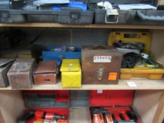 Shelf of Assorted Test Equipment