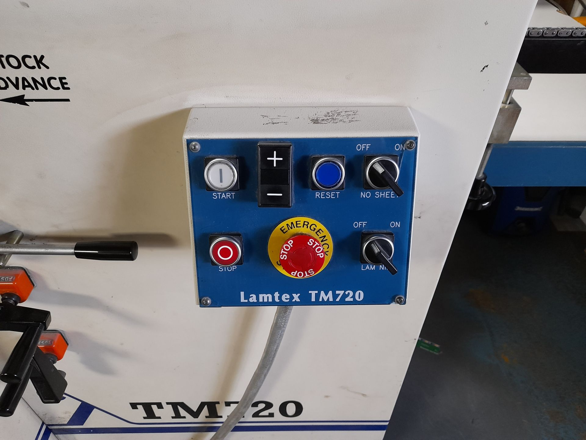 Lamtex TM820 laminator, with Tool Temp TT/142 chil - Image 5 of 10