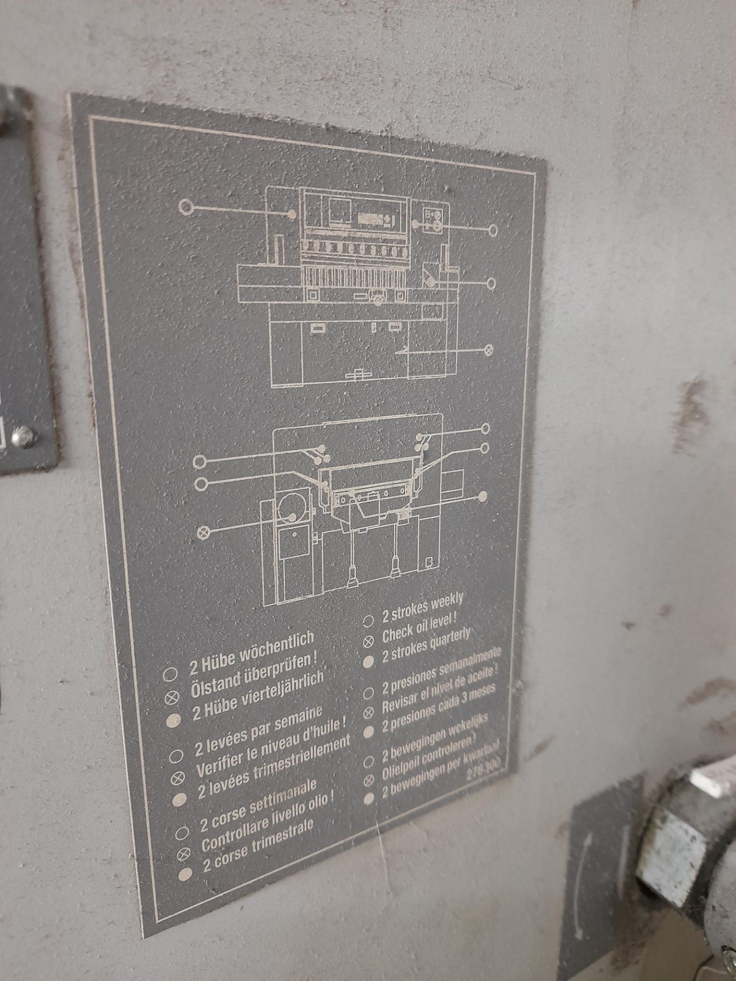 Polar Mohr 115 ED guillotine, Machine Number: 7031 - Image 8 of 9