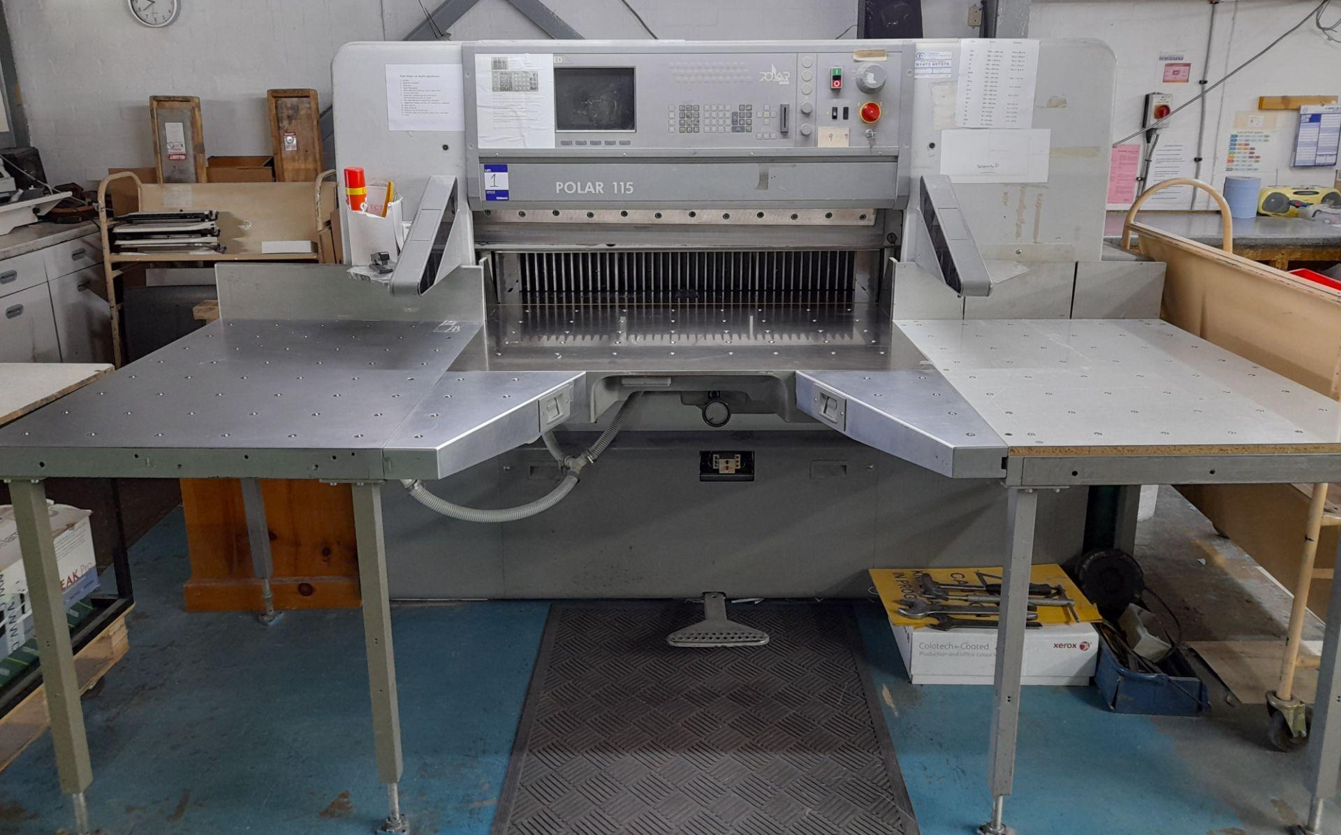 Polar Mohr 115 ED guillotine, Machine Number: 7031 - Image 2 of 9
