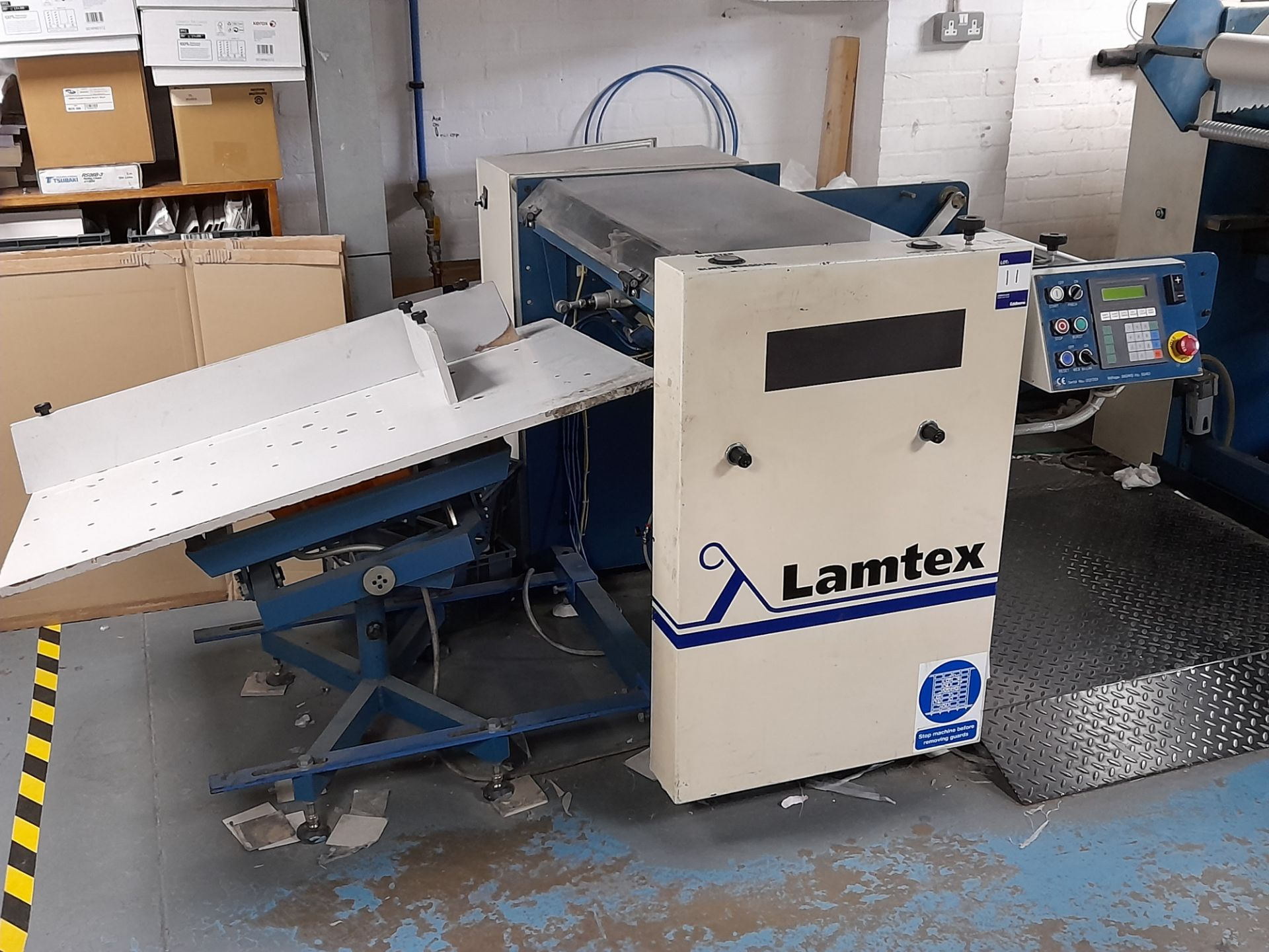 Lamtex TM820 laminator, with Tool Temp TT/142 chil - Image 2 of 10