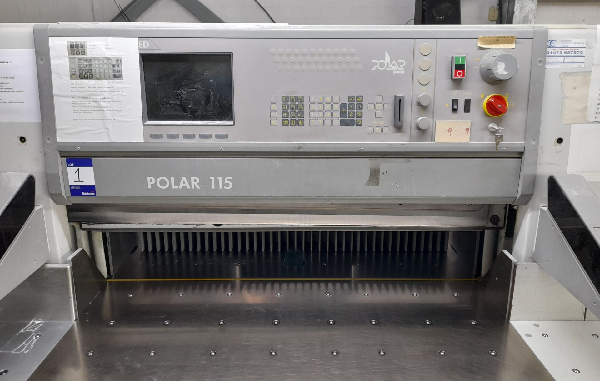Polar Mohr 115 ED guillotine, Machine Number: 7031 - Image 3 of 9